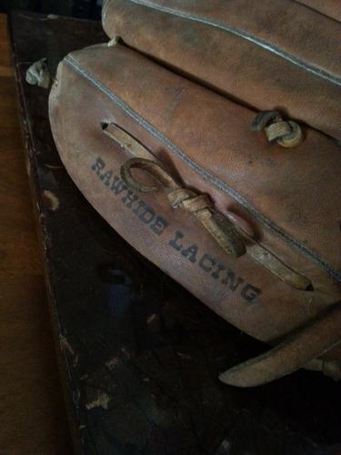 guante de beisbol antiguo en cuero marca louisville slugger
