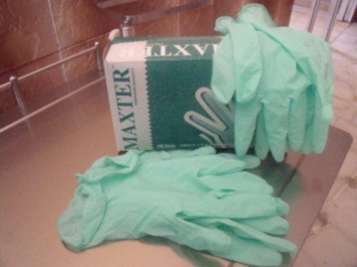 guante de examen mentolado verde caja x 100 uds.
