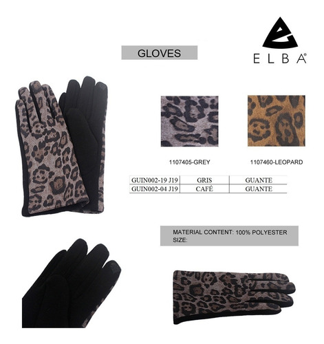 guante de invierno moda