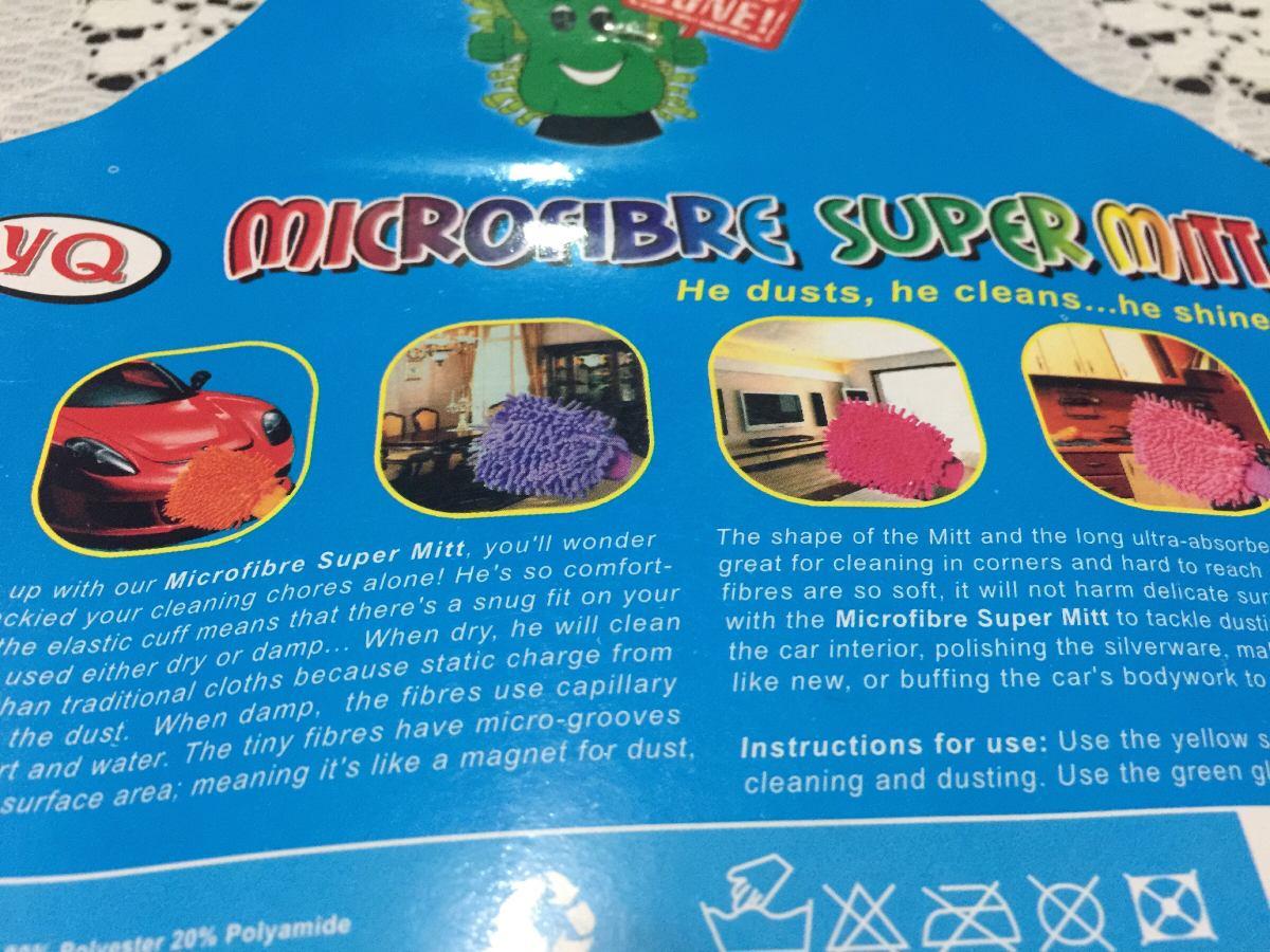 Guante De Micro Fibra 2 En 1 Envi Gratis 250 00 En Mercado Libre # Sacudir Los Muebles Meaning