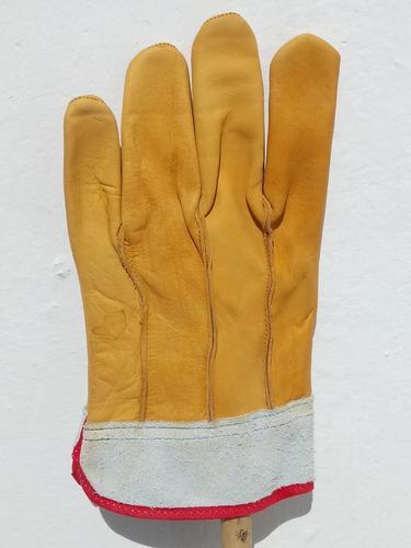guante de piel de res operador por docena