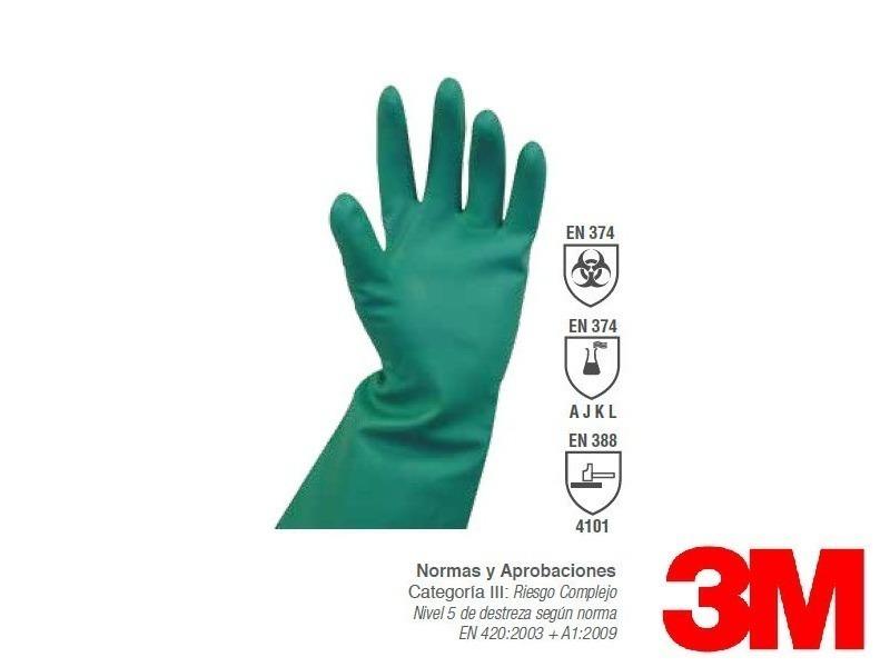 Guante De Protección 3m Organic Excelente Material Nitrilo - $ 129 ...