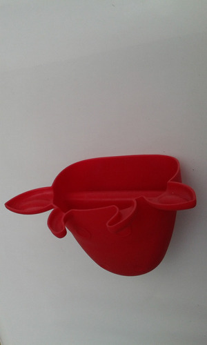 guante de silicón para cocina con forma de vaca