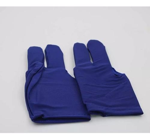 guante de tres dedos para billar. color azul. kalkin