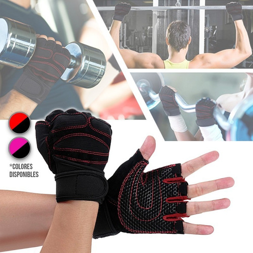 guante deportivo antideslizante gimnasio pesas ejercicio 339
