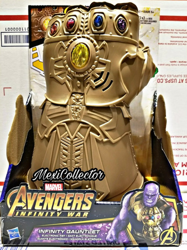guante electronico thanos infinity war  avengers marvel