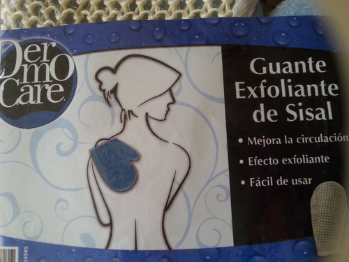 guante exfoliante del sisal dermo care