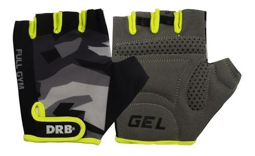guante gimnasio pesas drb® full gym ciclismo cuero gel lycra