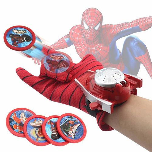guante lanzador de tazos de spider-man hombre araña