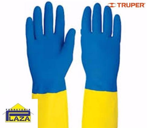guante látex neopreno azul/amarillo(0-67mm) truper gu-lim