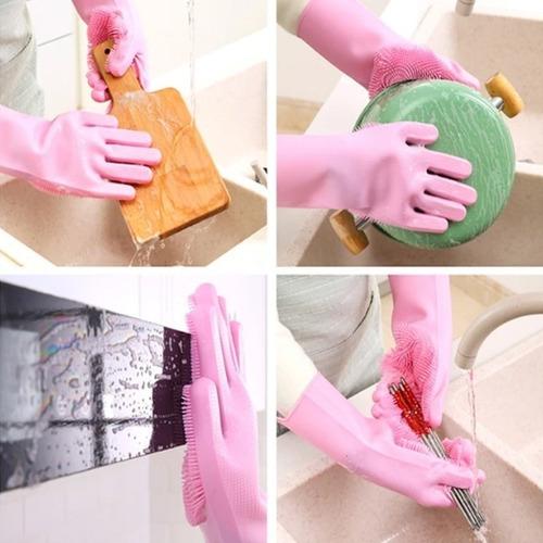 guante mágico lava loza 3x1 cepillo baño mascota pelos