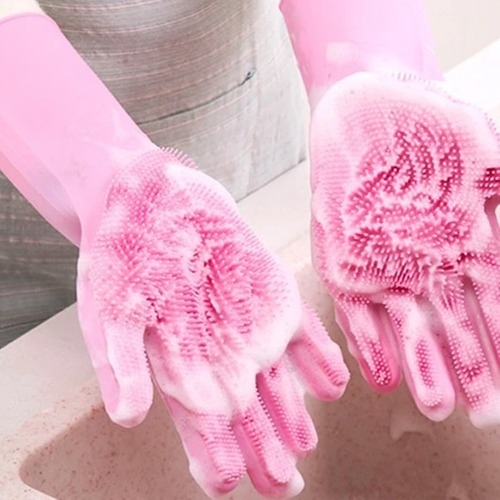 guante mágico lava loza cepillo baño mascota pelos reusable