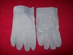guante manopla de cuero descarne reforzado