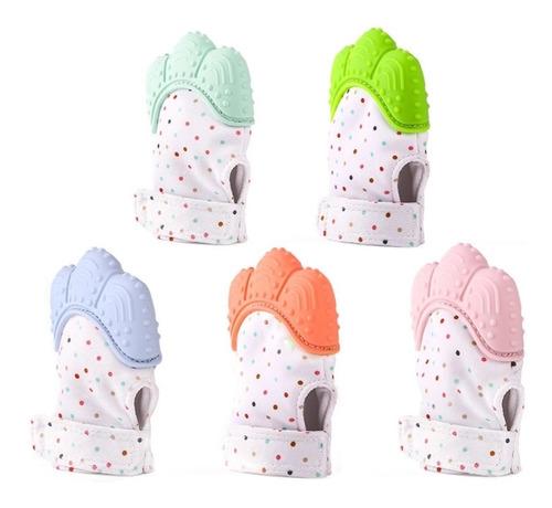 guante mordedera silicon para bebé dentición chupón