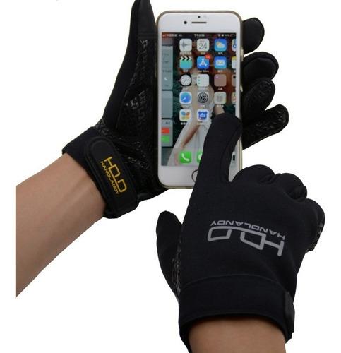 guante neopreno para moto xl con grip y touch para celular