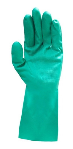 guante nitrilo verde