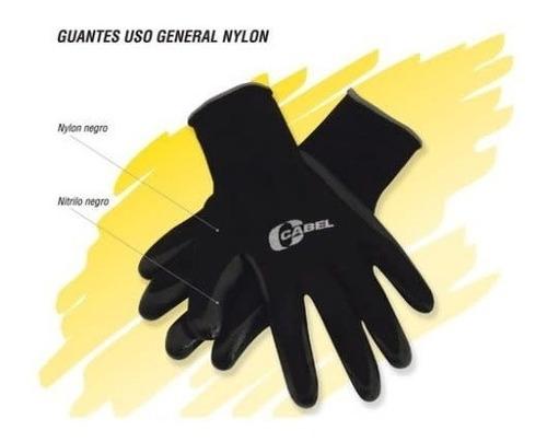 guante nylon-nitrilo color negro uso general 9 cabel