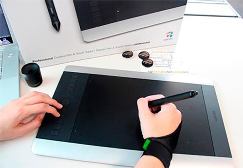 guante para dibujar con tabla digitalizadora wacom fryco one