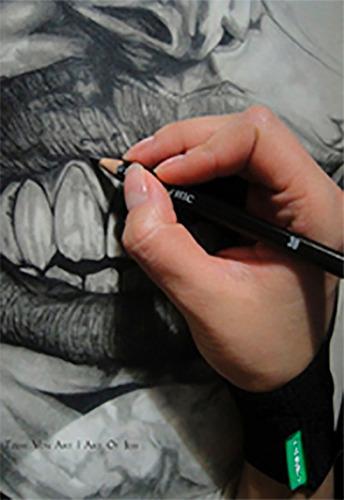 guante para dibujar sobre tabla digitalizadora wacom fryco
