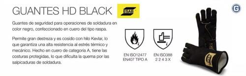 guante para soldar esab heavy duty black