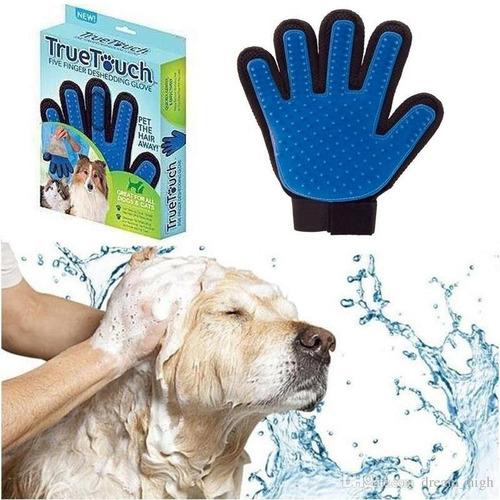 guante para tus mascotas removedor de pelo y masajeador