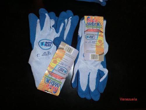 guante rayo flex azul
