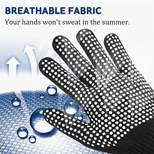 guante resistente al calor para el peinado guantes de bloque