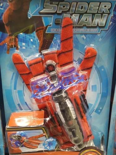 guante spiderman lanza dardos  avengers juguete spiderman