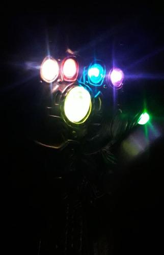 guante thanos guantelete avengers infinity war flex luz son