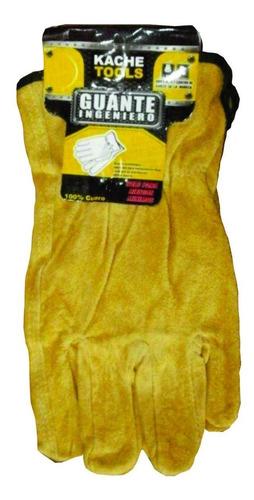 guante tipo ingeniero 100% cuero amarillo kache tools par (u