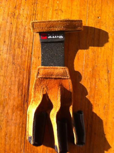 guante tradicional de cuero pse talla m