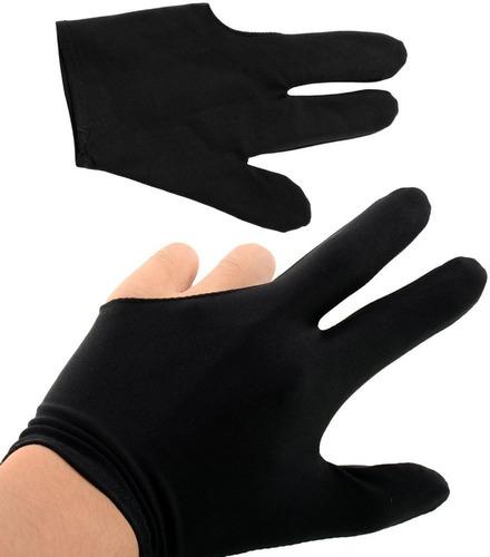 guante tres dedos billar unitalla licra desliza perfecto
