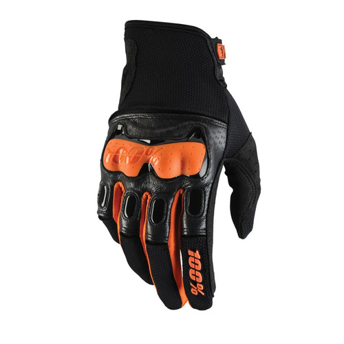 guantes 100% 2016 derestricted puño corto naranjas sm