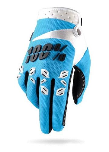 guantes 100% airmatic mx/offroad hombre azul/sm