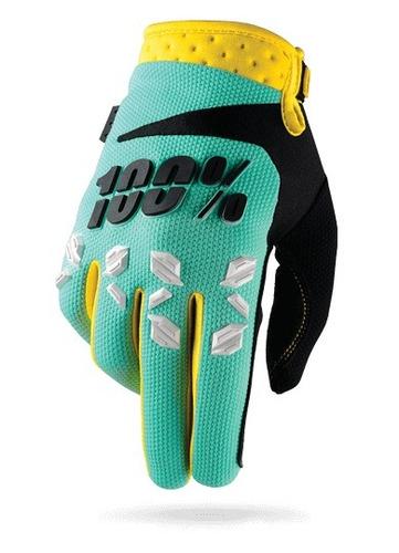 guantes 100% airmatic mx/offroad hombre menta verde xl