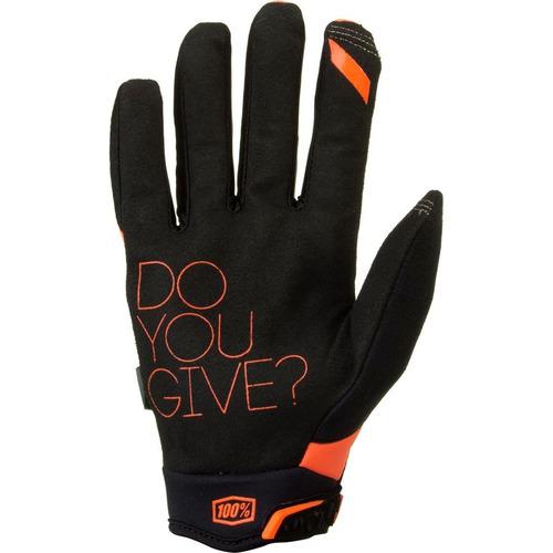 guantes 100% brisker mx/offroad hombre naranja 2xl