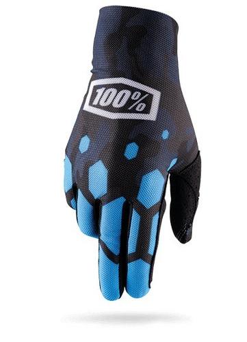 guantes 100% celium legacy mx/offroad camo azul sm