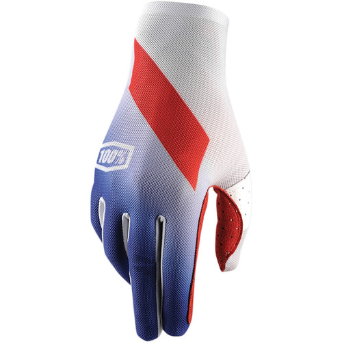 guantes 100% celium slant hombre mx/offroad azul md