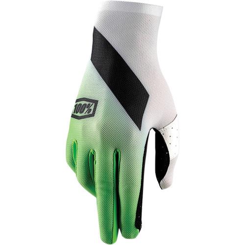 guantes 100% celium slant hombre mx/offroad verde md