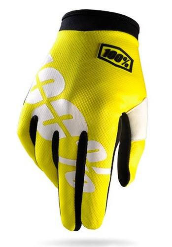 guantes 100% i-track mx/offroad amarillo fosforescente xl