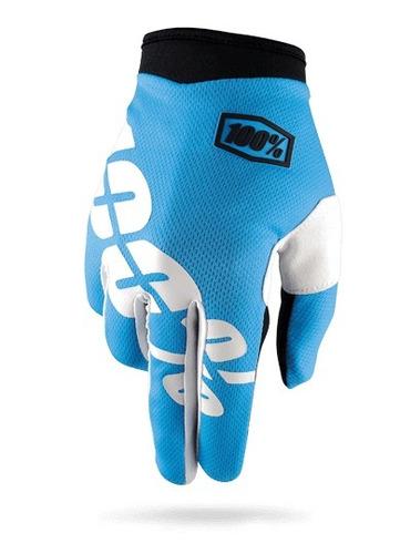 guantes 100% i-track mx/offroad cian azul xl