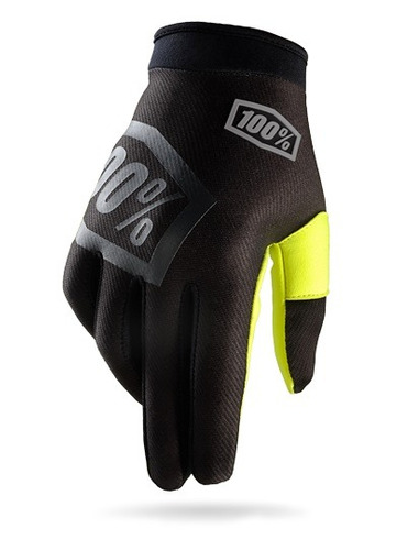 guantes 100% i-track mx/offroad negro/amarillo fosfor. 2xl