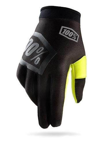 guantes 100% i-track mx/offroad negro/amarillo fosfor. sm