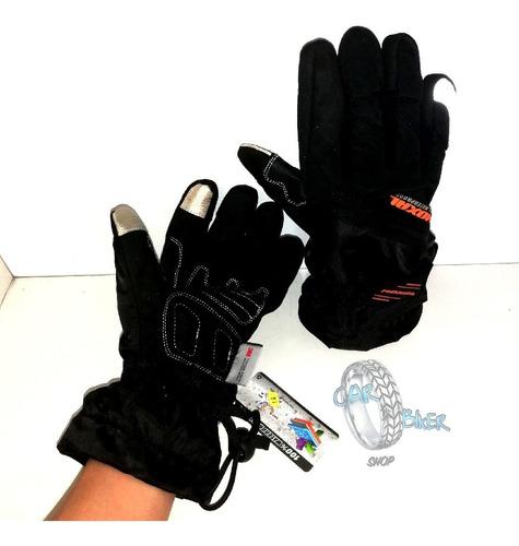 guantes 100% impermeables y térmicos con huella táctil