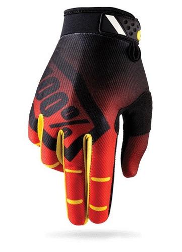 guantes 100% ridefit mx/offroad corpo rojo/ md