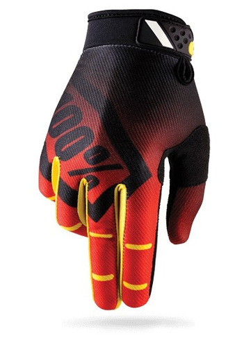 guantes 100% ridefit mx/offroad corpo rojo/ sm