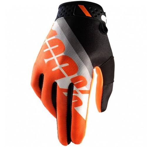 guantes 100% ridefit mx/offroad inclinación naranja sm