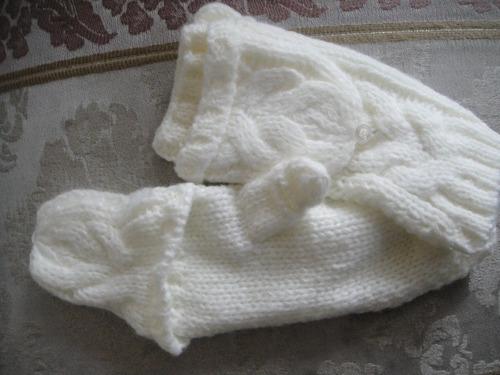 guantes aeropostale tejidos blancos ( 527 )