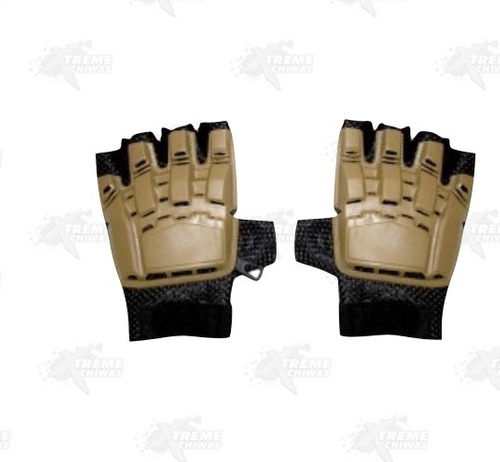 guantes airsoft paintball medio dedo xtreme p