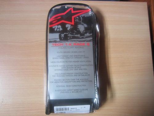 guantes alpinestars tech 1 race para karts formula f1 senna